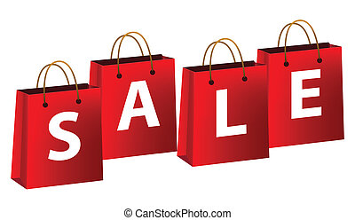 Shopping bags with sale