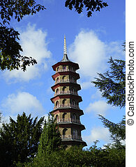 Kew Gardens Chinese Pagoda - The famous Chinese pagoda at...