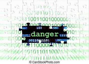 Danger puzzle concept