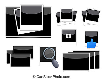 Vector photo set on white background. Eps10
