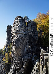 View from the Bastei-Bridge, Saxony - View from the...