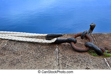 Mooring Rope - Rope for mooring a sailboat to a pier