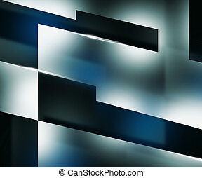 Shapes Dark Blue Background