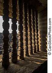 Architectural details of Angkor Wat temple, Cambodia