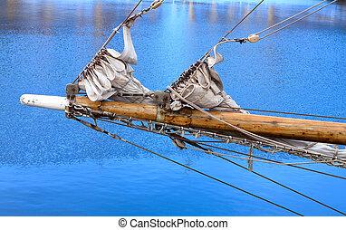 Bowsprit of a sailing vessel