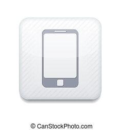 Vector app smartphone white icon. Eps10