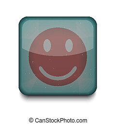 Vector smile icon. Eps10. Easy to edit