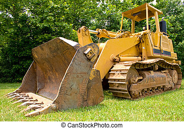 Bulldozer - A large construction bulldozer ready for work.