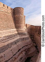 the moat of the castle - Chinchilla castle moat, in albacete...