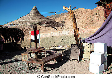 Desert Teahouse - a desert teahouse on the Sinai Peninsula,...