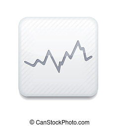 Vector app stock white icon. Eps10