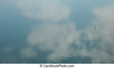 Reflection of clouds in water.
