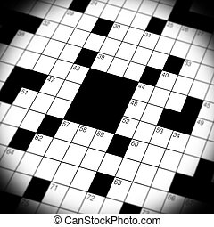 Crossword Puzzle Game Close Up - A close up, macro shot, of...