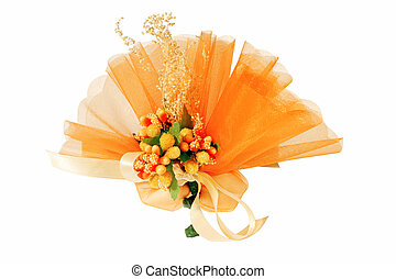 Wedding favor - Close-up of a wedding favor isolated on...