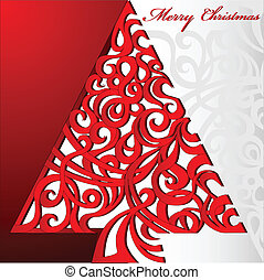 Merry Christmas Tree, Illustration vector background