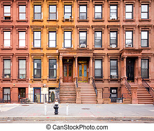 Historic Harlem Brownstones in New York City