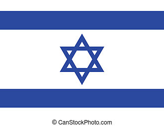 Flag of Israel vector illustration