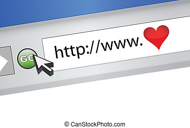 love internet browser illustration