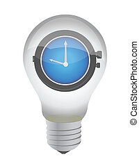 lightbulb and watch illustration