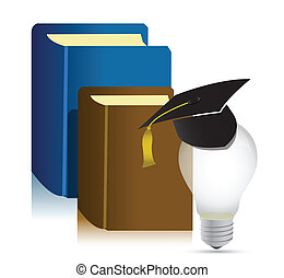 education books idea illustration design over white...