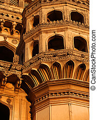 Charminar architecture - Detail architecture of 400 year old...