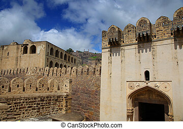 Golkonda Ruins - 400 year Golkonda fort in Hyderabad India