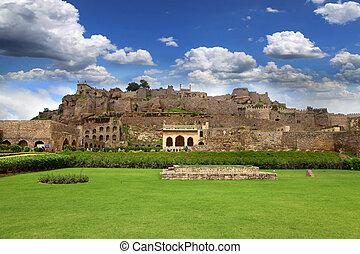 Golkonda fort - 400 year Golkonda fort in Hyderabad India