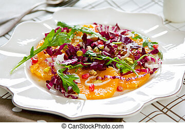 Orange with Radicchio salad - Orange with Radicchio,Rocket...
