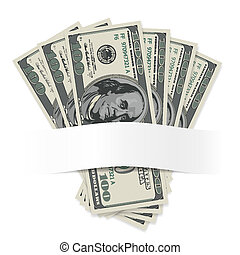 Dollars on a white background Illustration for design