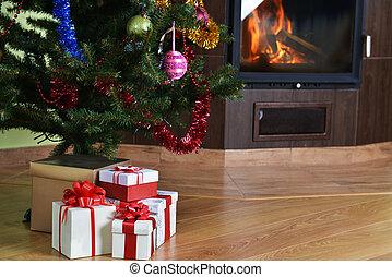 Christmas tree and gift - Christmas tree and christmas gift...