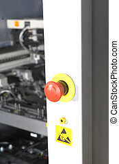 Emergency stop button - control panel modern machine...
