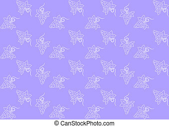 Seamless pattern with grapes