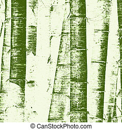 Bamboo grunge - Illustration of bamboo stems and grunge