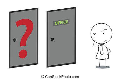 businessman door question