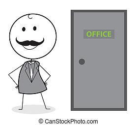 businessman door