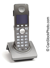 New Phone In Cradle - New wireless DECT phone in cradle over...
