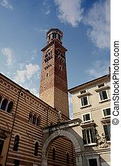 Piazza delle Erbe in Verona, Italy