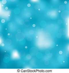 Blue bokeh light background