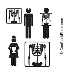 x-ray symbol - Illustration of Life icons, x-ray symbol,...