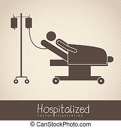 life icons - Illustration of Life icons, hospitalized with...