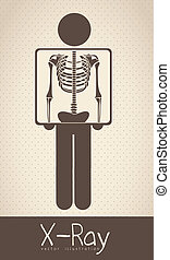 life icons - Illustration of Life icons, chest radiography,...