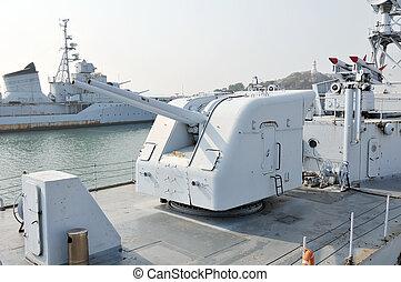 artillería, buque de guerra