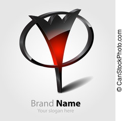 Abstract glossy brand logo - Originally designed abstract...