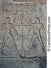 Side panel on statue of Ramses II
