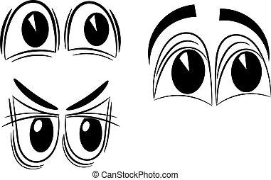 dessin animé, yeux, eps10