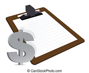 dollar clipboard