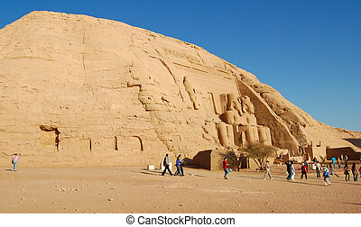 Abu Simbel temple - Artificial hill of Abu Simbel temple,...