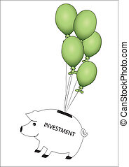 piggy and balloons
