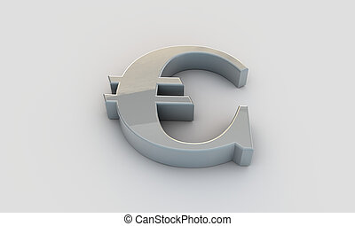 euro symbol isolated on white background