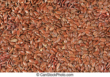 close up of flax seeds food background